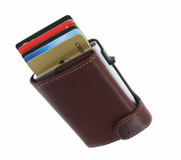 Tony Perotti Vegetale Leather Smart Wallet Brown