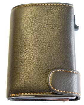 Tony Perotti Cervo Leather Smart Wallet - Brown