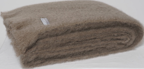 Windermere Mohair Throw Manuka - 130x185cm