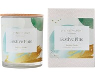 Living Light Festive Pine Soy Candle Large