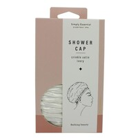 Simply Essential Crinkle Shower Cap Ivory