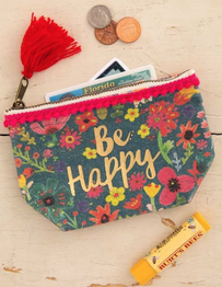 Natural Life Bee Happy Mini Canvas Pouch 10x14cm