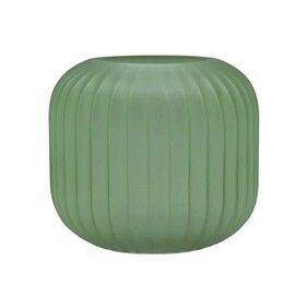 Madras Riverton Groove Glass Vase Small - Green
