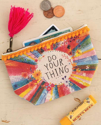 Natural Life Do Your Thing Mini Canvas Pouch 10x14cm
