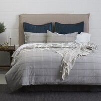 Seneca Abbey Check Duvet Set - Slate