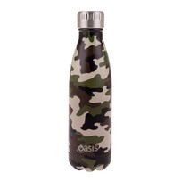 Oasis S/S Insulated Drink Btle - Camo Green 500ml