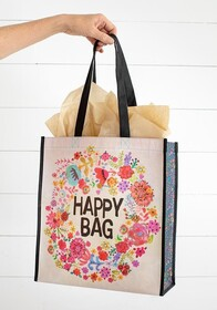 Natural Life Whimsy Floral Wreath Gift Bag Large 31x12.5x35cmH