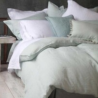 MM Linen Laundered Linen Sheet Set Duckegg