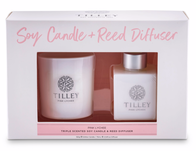 Tilley Pink Lychee Candle & Reed Gift Pack