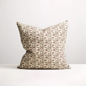 Thread Olive Flutter Cushion