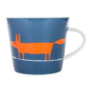 Keith Brymer Jones Mr Fox Mug - Denim/Orange