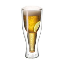 Avanti Top Up Twin Wall Beer Glass 2 pce - 400ml