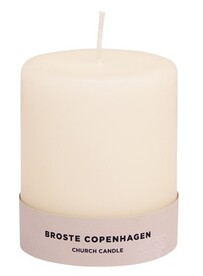 Broste Church Candle - Antique White 8x10cm