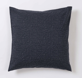 Citta Inku Cotton Linen Pillowcase - Midnight Euro