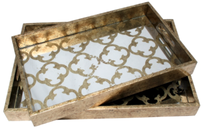 Christiana Quatrefoil Tray Large - Gold