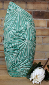 Banyan Multi Palm Leaf Vase 47cmH - Green