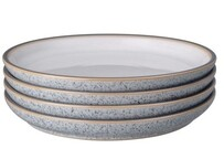 Denby Studio Grey Medium Plate White 4 pce 21cm