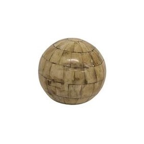 French Country Natural Bone Decor Ball Dia10cm