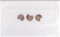 Alice & Lily Coral Embroidered Hand Towel