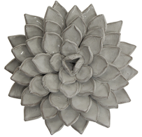 French Country Figaro Lotus Flower Decor 20cmDiax5.5cmH - White