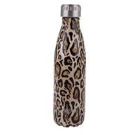 Oasis S/S Insulated Drink Btle Leopard 500ml