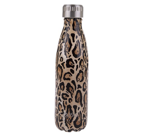 Oasis S/S Insulated Drink Btle - Leopard 500ml