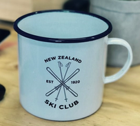 Moana Road NZ Ski Club Enamel Mug - White Small