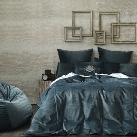 MM Linen Velvet Duvet Set - Bluestone King