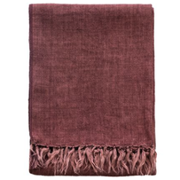 Furtex Indira Linen Throw Red Clay 130x170cm