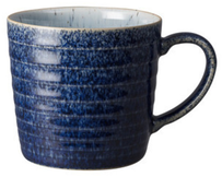 Denby Studio Blue Ridged Mug Navy