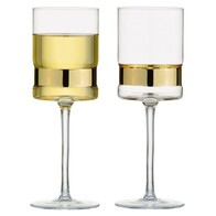 Anton Studio Soho Wine Glasses Gold S/2