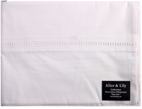 Tritex Embroidered Hemstitch Pillowcase - White Pair