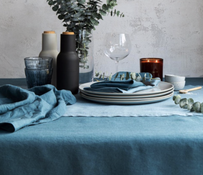 Baksana Linen Tablecloth Peacock