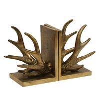 French Country Antler Bookends 10.5x12x16cmH