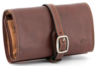 Tony Perotti Italian Leather Jewellery Roll Brown