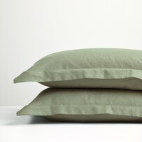 Thread Linen P'cases Sage Green Std Pair