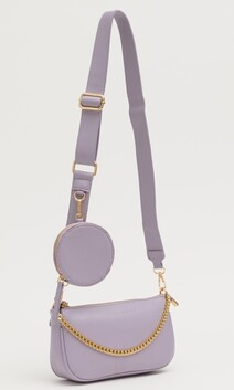 Stella & Gemma Soho Bag with Chain - Lavender
