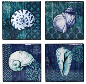 Christiana Sea Shells Coaster Set of 4 11cm