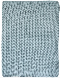 Furtex Milford Moss Stitch Throw Duck Egg - 125x150