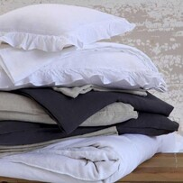 MM Linen Laundered Linen Sheet Set Collection - White