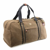 Troop Explorer Holdall Brown w Black Trim Mini