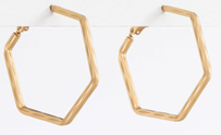 Stella & Gemma Hex Gold Earrings