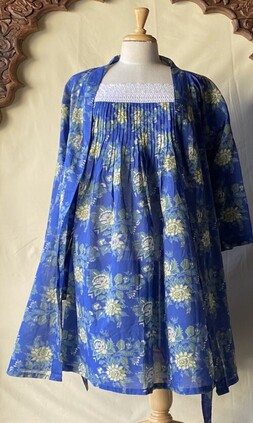 Arabella Floral Robe - Blue
