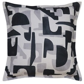 Madras Revival Cushion Charcoal - 50cm