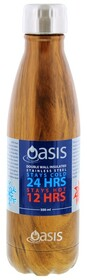 Oasis S/S Insulated Drink Btle - Wdn Fin 500ml