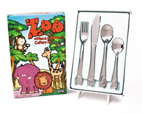 d.line Kids Zoo Cutlery Set - 4pce