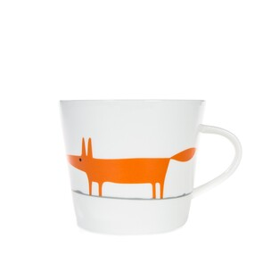 Keith Brymer Jones Mr Fox Mug - White/Orange
