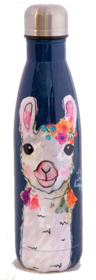 Natural Life Happy Floral Llama Water Bottle 475ml