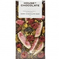 House of Chocolate Fig Cherry Pistachio Chocolate Bar - Dk