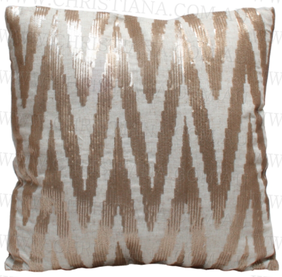 Christiana Zebra Sequin Cushion Gold - 45x45cm